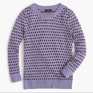 J Crew Tippi Jacquard Dot Pullover Sweater